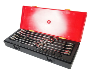 Набор ключей комбинированных трещоточных 8-19мм 14 предметов в кейсе JTC-K6141