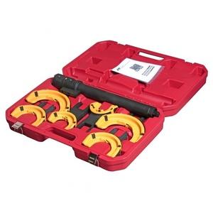 Набор инструментов для стяжки пружин с пневмоприводом (3 пары захватов, ход 317мм) в кейсе JTC-4274